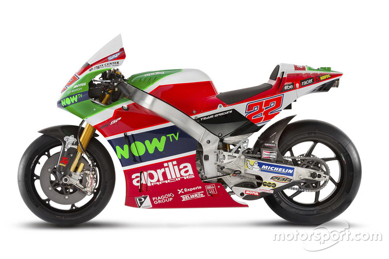 La moto de Sam Lowes, Aprilia Racing Team Gresini