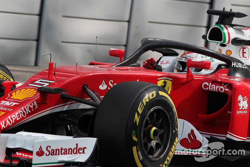 Sebastian Vettel, Ferrari SF16-H con il dispositivo Halo
