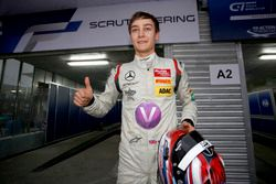 Pole position for George Russell, Hitech GP Dallara Mercedes