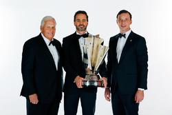 Champion Jimmie Johnson, Hendrick Motorsports Chevrolet and team owner Rick Hendrick, crew chief Cha