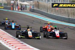 Alex Palou, Campos Racing leads Sandy Stuvik, Trident & Tatiana Calderon, Arden International