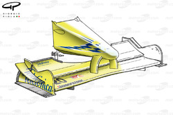 Minardi M02 2000, ala anteriore e naso