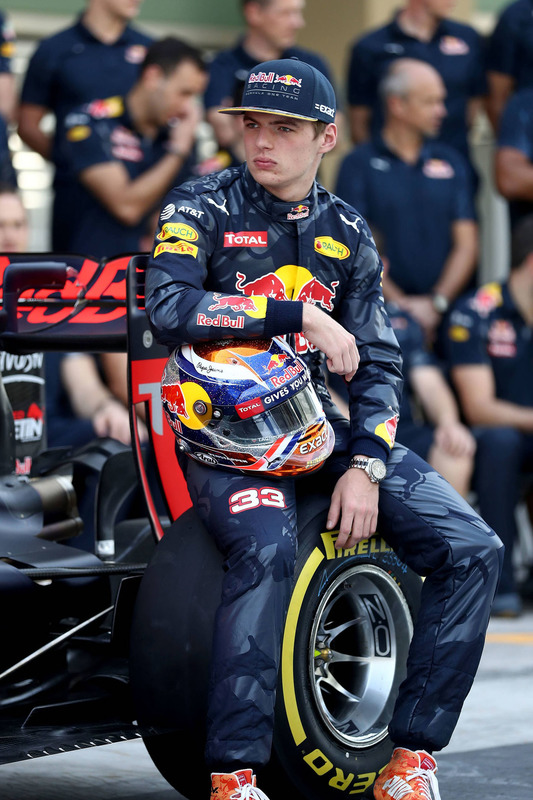 Max Verstappen, Red Bull Racing at a team photograph