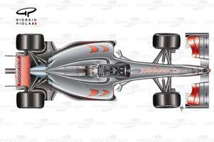 Vista de arriba del McLaren MP4-24 2009.