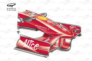 Ferrari F2008 (659) 2008 front wing and nose