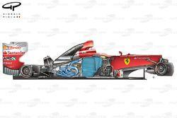 Ferrari F2012 side view stripped down
