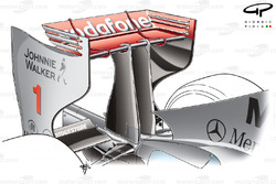 McLaren MP4-24 2009 Monza rear wing