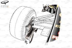 Lotus E22 front brake duct detail