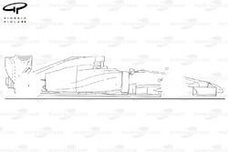 Toro Rosso STR9 side view (outline)