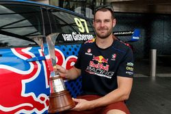 Shane van Gisbergen, Triple Eight Race Engineering Holden with 2016 Championship trophy