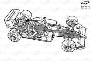 Vista general del McLaren MP4-4 1988