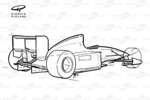 Benetton B191 1991, vista schematizzata
