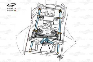 Minardi M01 1999 rear suspension detail
