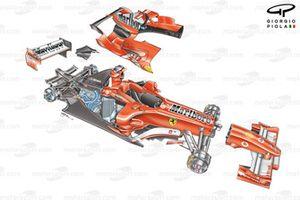 Ferrari F2005 (656) в разборе