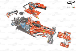 Ferrari F2005 (656) 2005 exploded detail overview