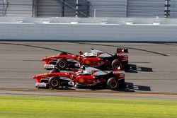 Kimi Raikkonen, Ferrari F60 and Sebastian Vettel, Ferrari F60