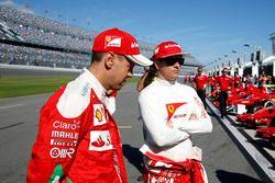 Sebastian Vettel, Ferrari and Kimi Raikkonen, Ferrari