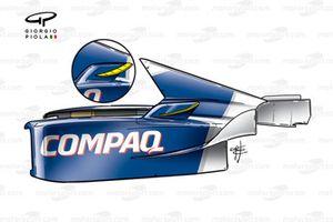 Williams FW23 2001 sidepod chimney winglets