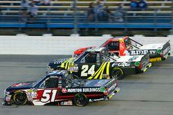 Harrison Burton, Kyle Busch Motorsports Toyota, Justin Haley, Fraternal Order of Eagles Chevrolet Si