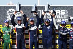 Podium LMP3 : vainqueur John Falb, Sean Rayhall, United Autosports, deuxième place Jakub Smiechowski, Martin Hippe, Inter Europol Competition, troisième place Alexandre Cougnaud, Antoine Jung, Romano Ricci, M.Racing - YMR