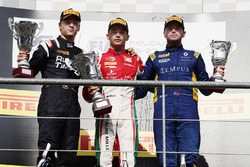 Podium: winner Charles Leclerc, PREMA Racing, second place Artem Markelov, RUSSIAN TIME, third place