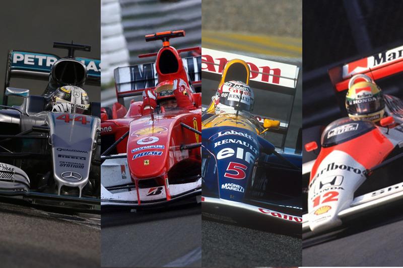 Los F1 más exitosos de la historia