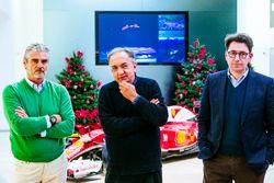 Maurizio Arrivabene, Team Principal Scuderia Ferrari, Sergio Marchionne, Presidente Ferrari e CEO di Fiat Chrysler Automobiles e Mattia Binotto Direttore Tecnico Scuderia Ferrari