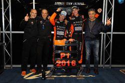 Armando Donazzan, presidente Orange1 Racing, Thomas Biagi, Fabrizio Crestani, Giuseppe Aguegi, responsabile Daiko