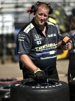 L'équipe de Charlie Kimball, Chip Ganassi Racing Honda