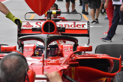 Kimi Raikkonen, Ferrari SF70H, mit Halo