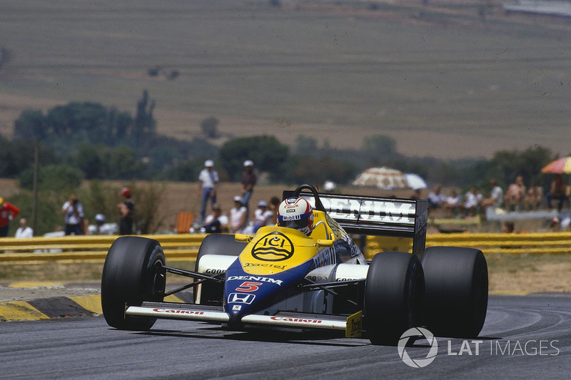 4º Nigel Mansell, Williams FW10, Kyalami 1985. Tiempo: 1:02.366