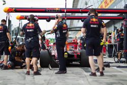 Simulation d'arrêt au stand pour Red Bull Racing