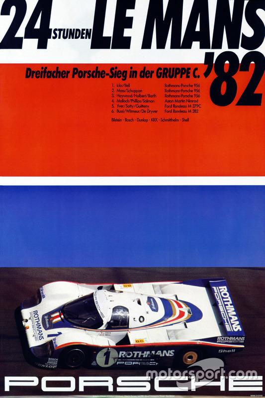 Poster: Porsche-Sieg bei den 24h Le Mans 1982