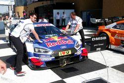 Auto Mattias Ekström, Audi Sport Team Abt Sportsline, Audi A5 DTM in parc ferme