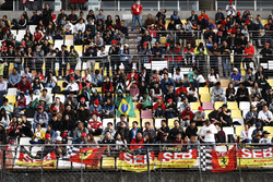 Support for Ferrari in the grandstands
