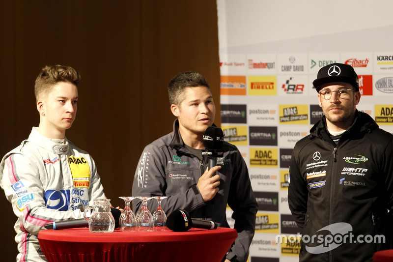 Mike-David Ortmann, Mücke Motorsport; Christopher Mies, Montaplast by Land-Motorsport; Maximilian Götz, Mercedes-AMG Team HTP Motorsport