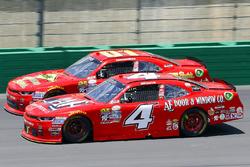 Ross Chastain, JD Motorsports Chevrolet y Harrison Rhodes, JD Motorsports Chevrolet