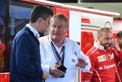 Jo Bauer, FIA Safety Delegate in the Ferrari garage