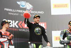 Il vincitore della gara e Campione 2017 champion Jonathan Rea, Kawasaki Racing