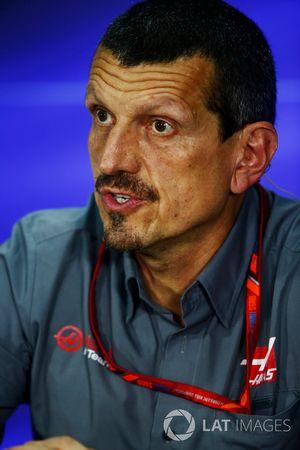 Günther Steiner, Team Principal, Haas F1 Team, lors de la conférence de presse
