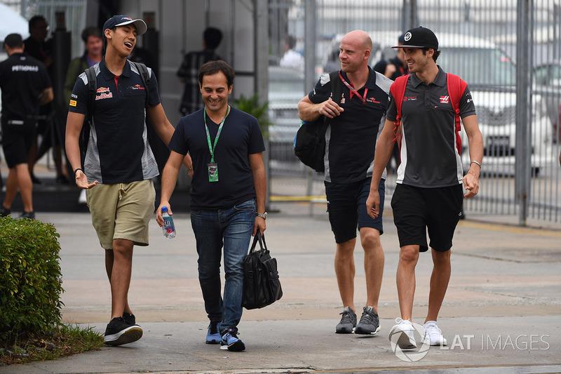 Шон Гелаэль, Scuderia Toro Rosso, и Антонио Джовинацци, Haas F1