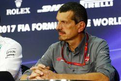 Guenther Steiner, director del equipo, Haas F1 Team, en la Conferencia de prensa FIA