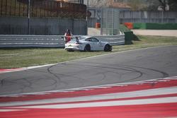 Roberto Minetti, Ghinzani Arco Motorsport, dopo un fuori pista