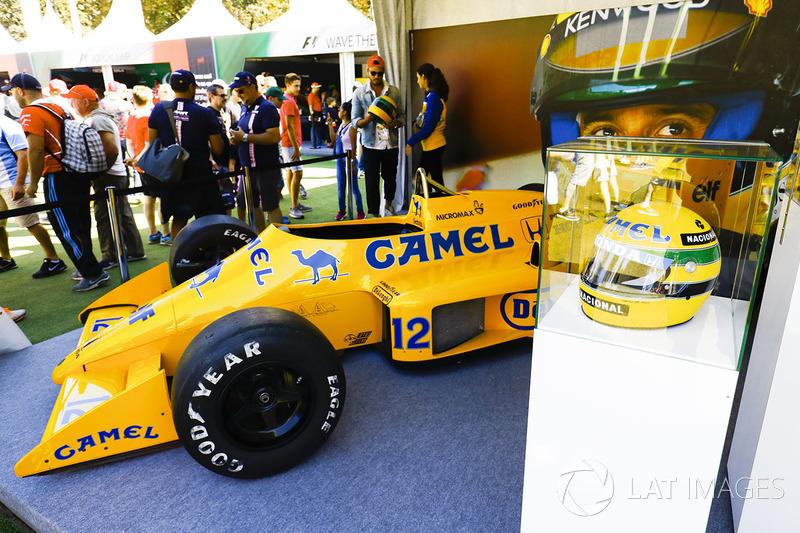 El Lotus 99T de Ayrton Senna en exposición