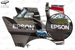 Mercedes W08 rear endplate comparison, Italian GP