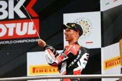 Podium : troisième place pour Marco Melandri, Ducati Team