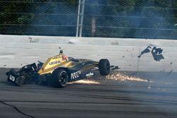 James Hinchcliffe, Schmidt Peterson Motorsports Honda crash