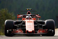 Stoffel Vandoorne, McLaren MCL32, avec le Halo