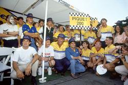Nelson Piquet, Benetton celebra su gran premio número 200
