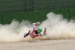 Eugene Laverty, Milwaukee Aprilia World Superbike Team crash